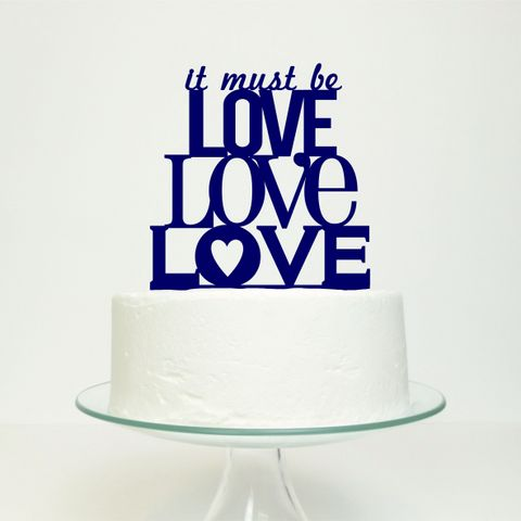 It Must Be Love, Love, Love Cake Topper-001
