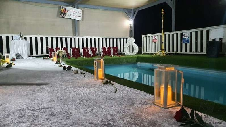 הצעת נישואין בצימר בגלבוע אתנחתא בגלבוע אדירים צימרים אור & מוריה (9.2.20)00014