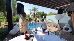 זמר להצעת נישואין במלון סטאי בכנרת בצפון