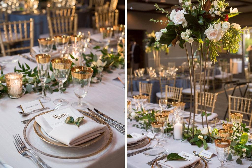 Modern, Elegant Wedding Reception Decor,Clear and Gold ...