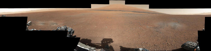 view 'Landing Site Panorama, with the Heights of Mount Sharp'