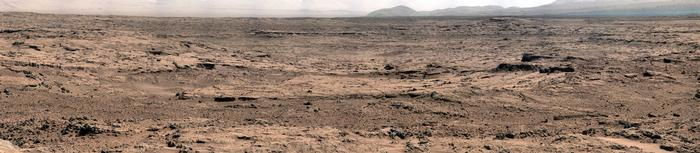 view 'Panoramic View From 'Rocknest' Position of Curiosity Mars Rover'