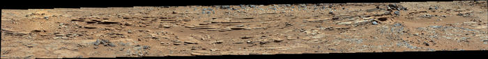 view 'Wide View of 'Shaler' Outcrop, Sol 120'