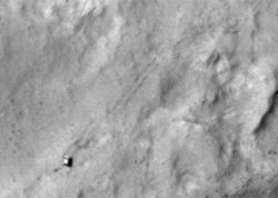 Curiosity Trekking, Viewed from Orbit in December 2013