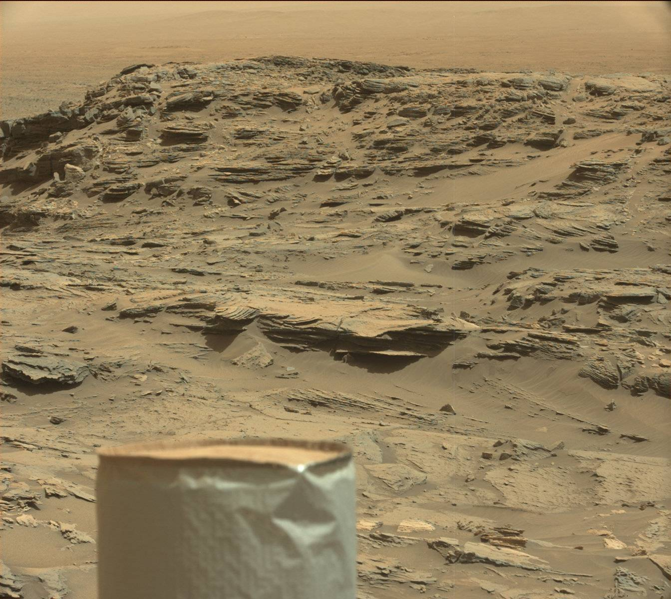 Mars, with Curiosity's UHF antenna.