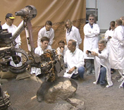 Video Clip of a Rover Rock-Drilling Demonstration at JPL