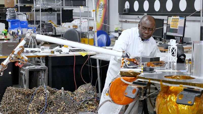 Image result for Ghanaian scientist helps NASA deploy a lander on Mars""