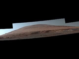 Una vista espectacular del monte Sharp de Marte
