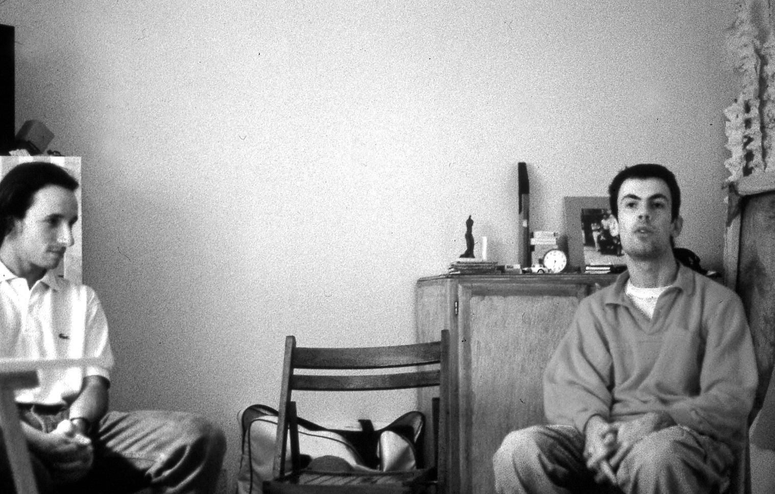 Loïc Néhou et Fabrice Neaud en 1992 - Photographie Florence Brucy