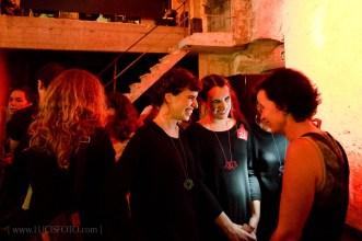 Silvia Walz y las ganadoras del premio del público.