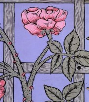 rose climbing rose wallpaper circa 1862 by wm morris via victoria and albert museum