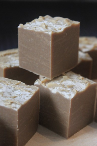 Flora & Pomona's Oat Stout Beer Soap, made with beer from La Microbrasserie du Lièvre