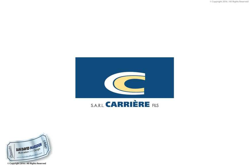 Carriere Logo Image of logo, character and mascot design by Ian David Marsden