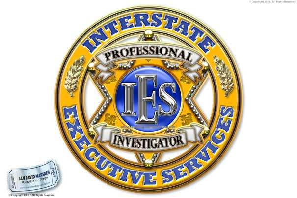 Image of private investigator logo, character and mascot design by Ian David Marsden