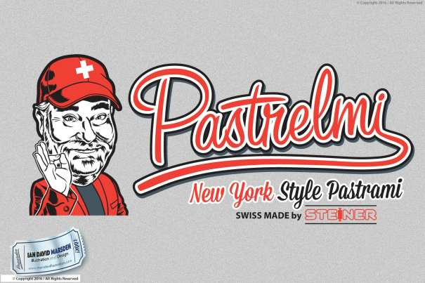 Pastrelmi Pastrami Helmi Sigg Image of logo, character and mascot design by Ian David Marsden