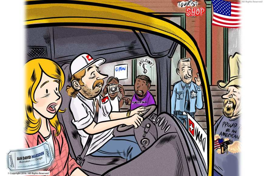 Comic and Cartoon Artwork by Ian David Marsden