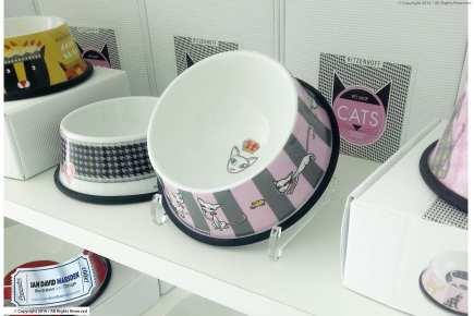Cat Bowl on Shelf - RITZENHOFF Design Collection Object by designer Ian David Marsden