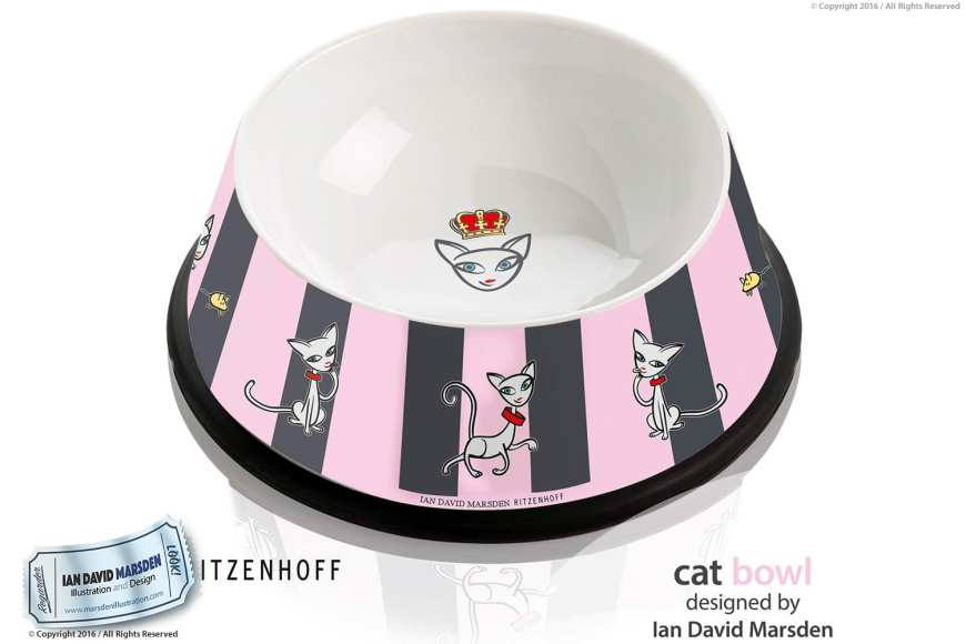 Cat Bowl - RITZENHOFF Design Collection Object by designer Ian David Marsden
