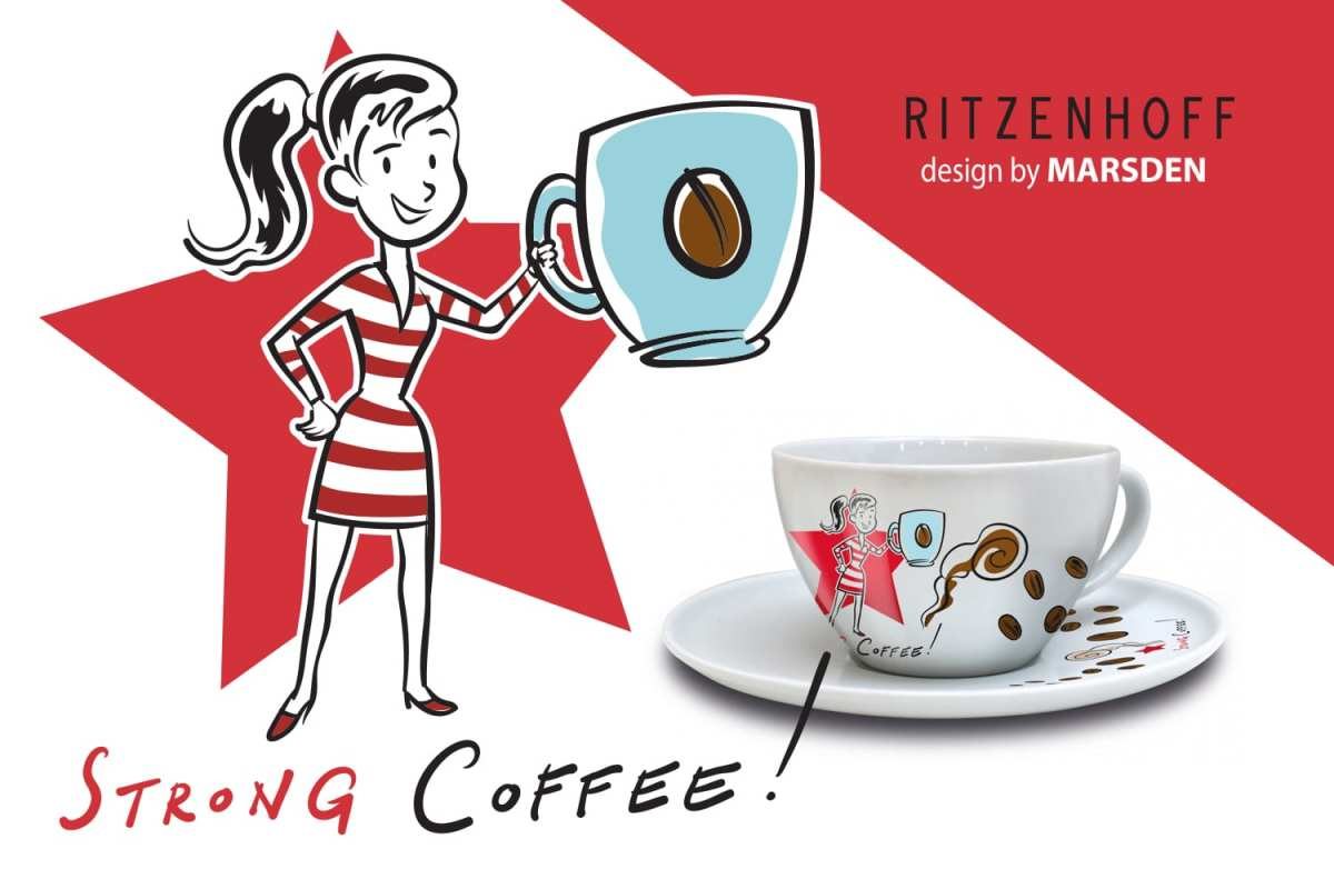 Cappuccino Cups by Marsden NOW in the Ritzenhoff Design Collection