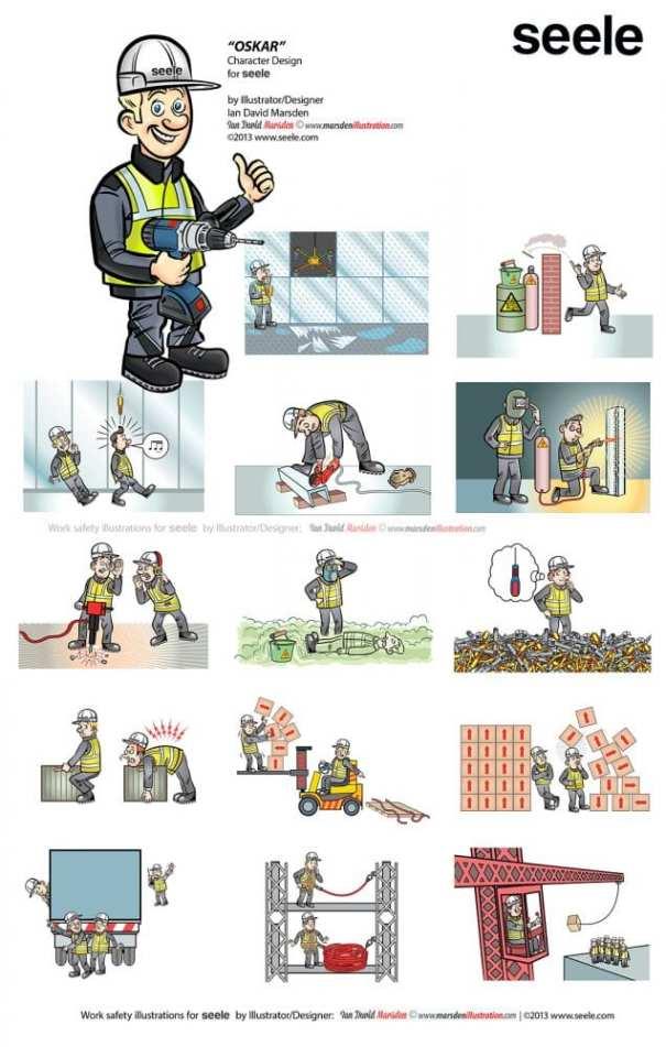 Work Safety Illustrations for Seele