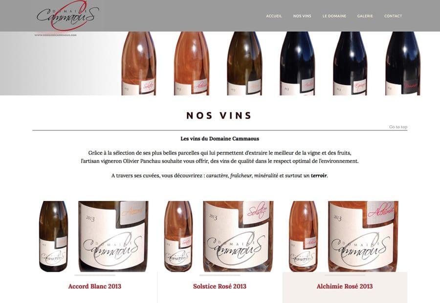Création de Site : Domaine Cammaous Artisan Vigneron