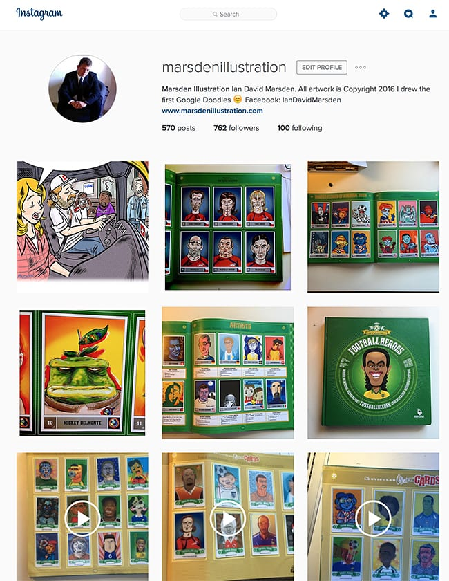 Illustration and Cartoon Art Instagram Feed