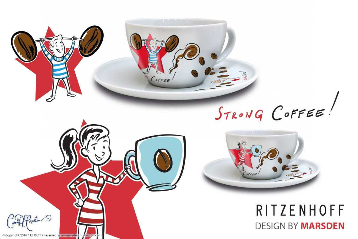 RITZENHOFF Coffee Love - Cappuccino Cups by Ian David Marsden