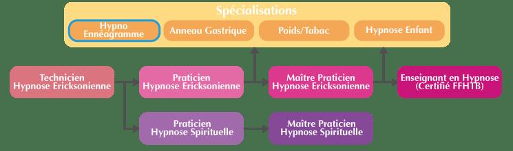 Schéma cursus formation Hypno-Ennéagramme Marseille