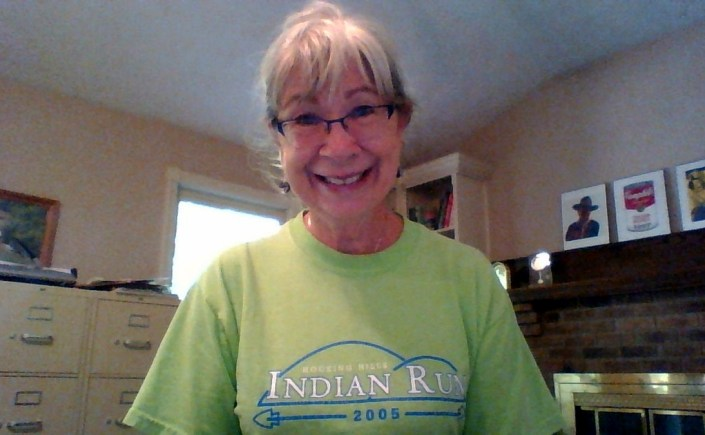 Mary in Indian Run shirt