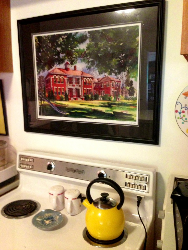 watercolor, teapot, stove