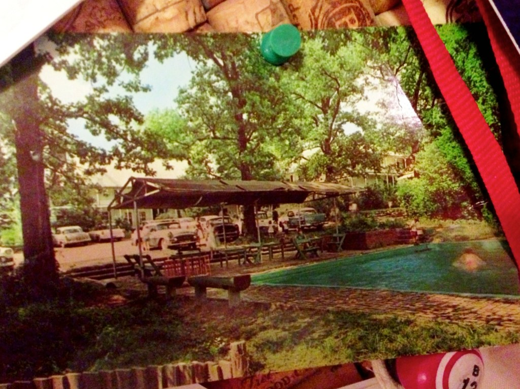 postcard, pool, Allison's Wells