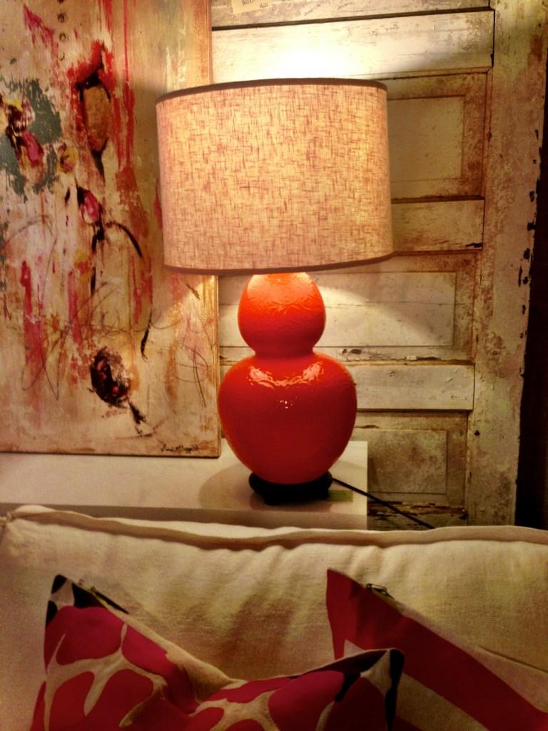 orange, lamp