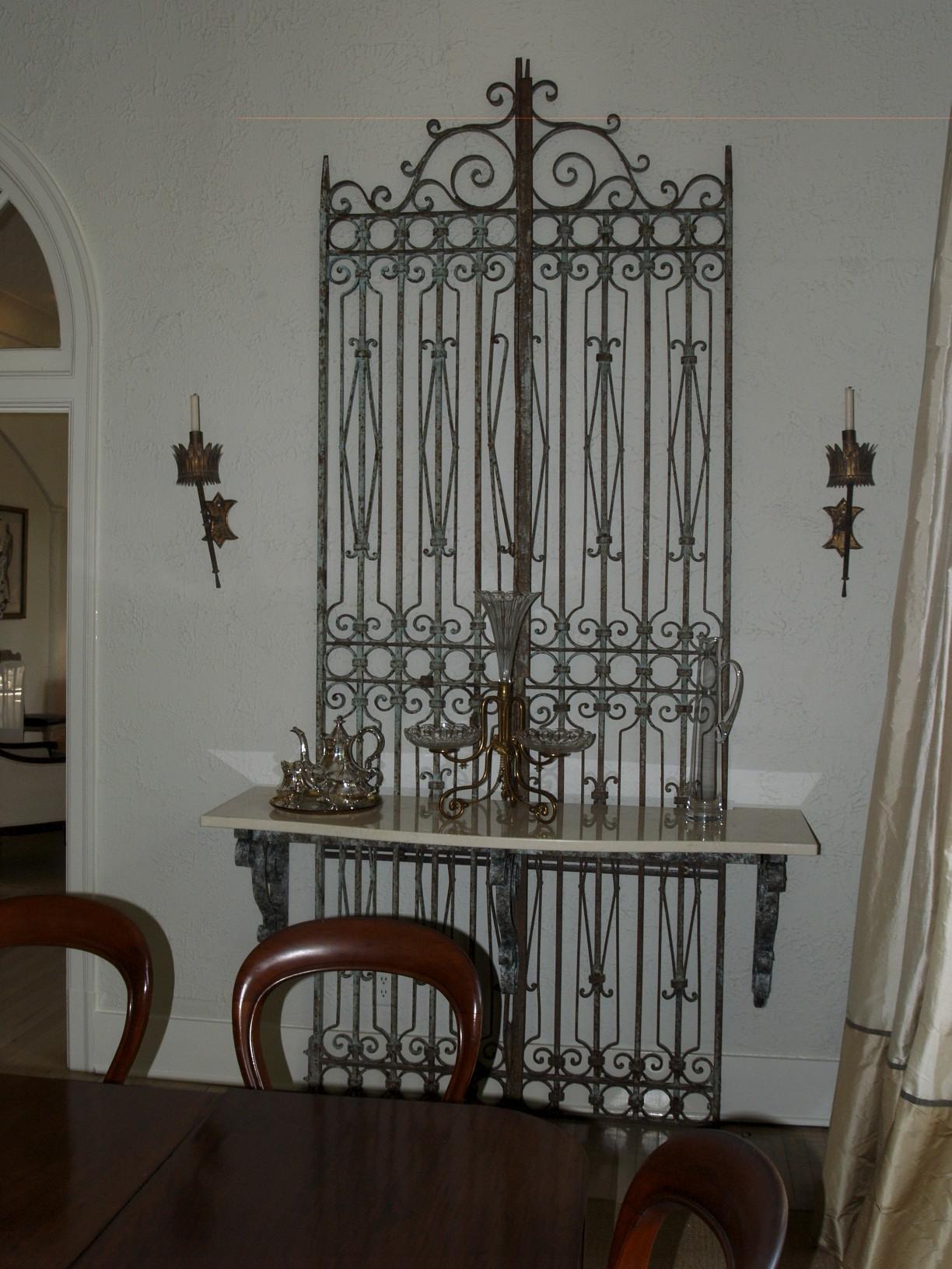 gates, sideboard