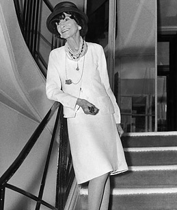 coco chanel, white clothes