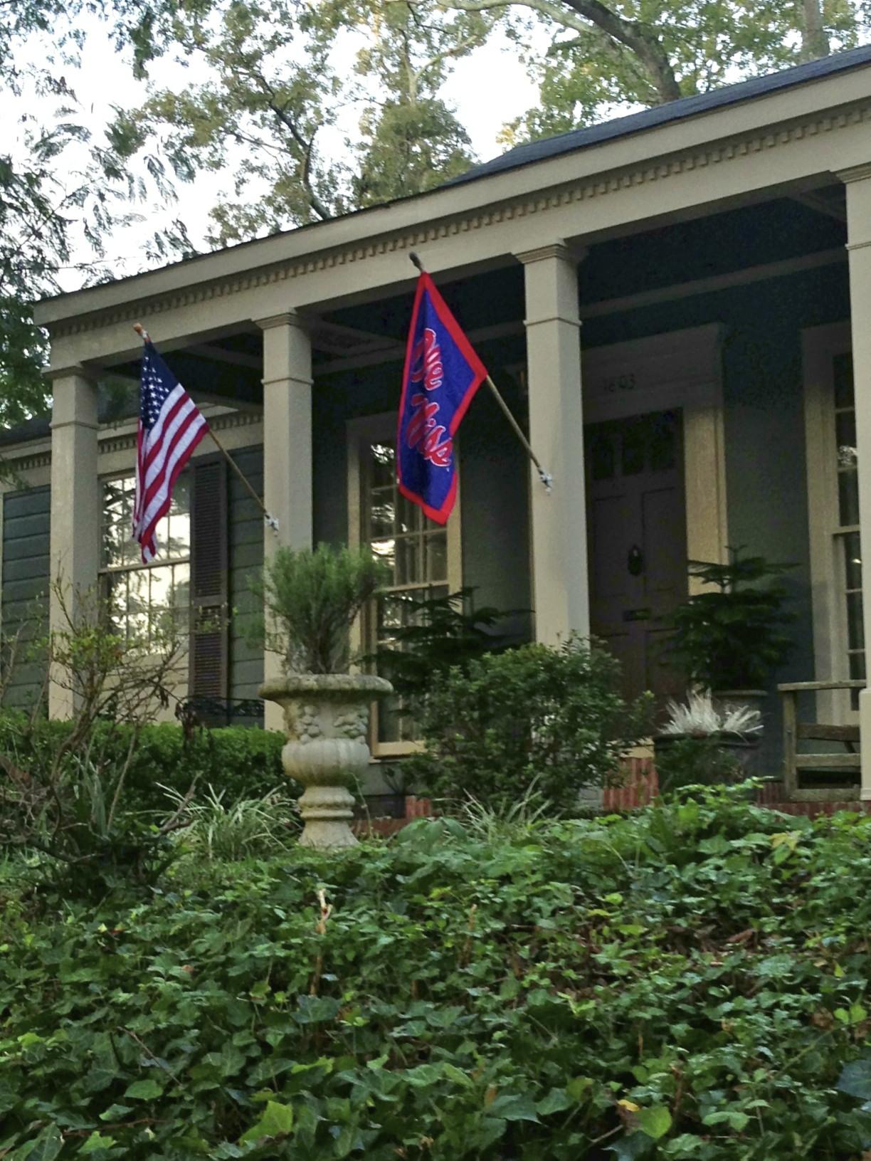 flags at front door