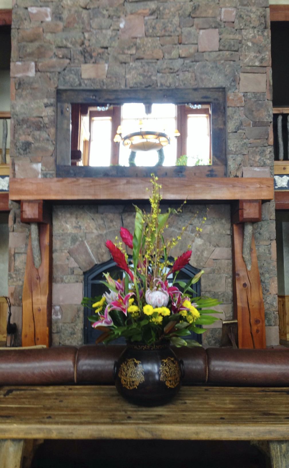 flowers in The Lodges lobby