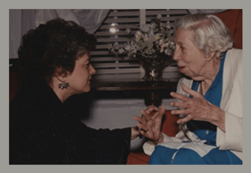 Carol Hardy Pigott and Eudora Welty