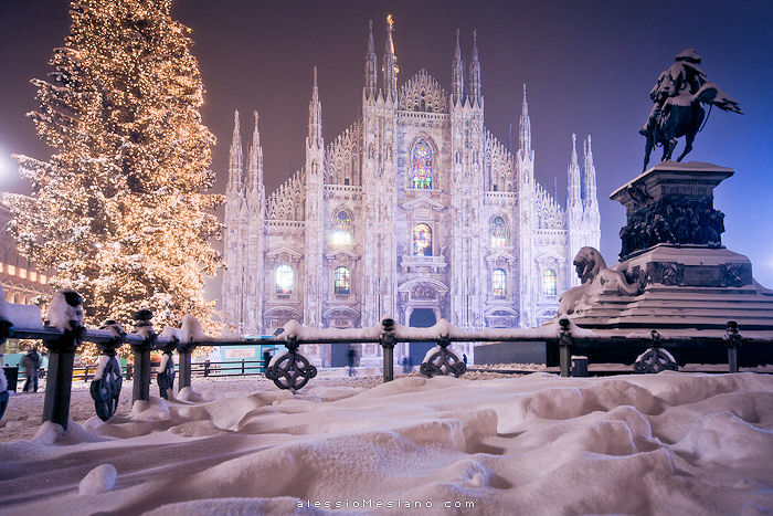 Italy Christmas Milan Creative Commons via Alessio Mesiano
