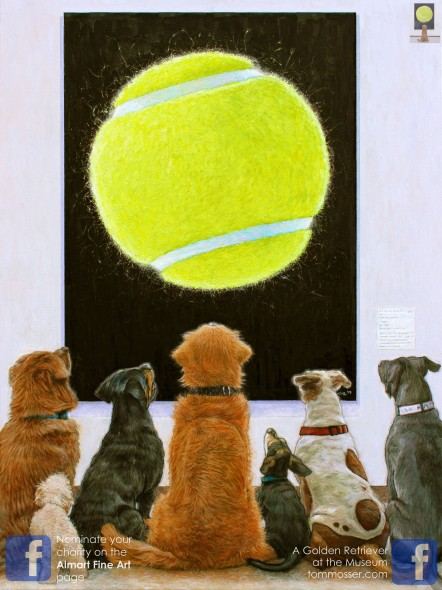 dogs with art