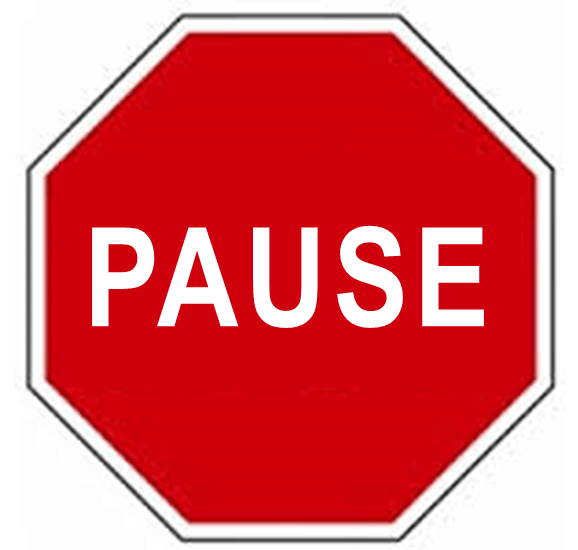 Pause-sign