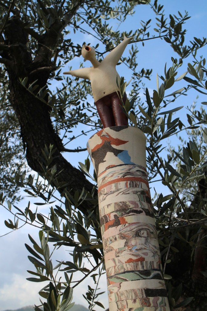 whimsical art in tuscany