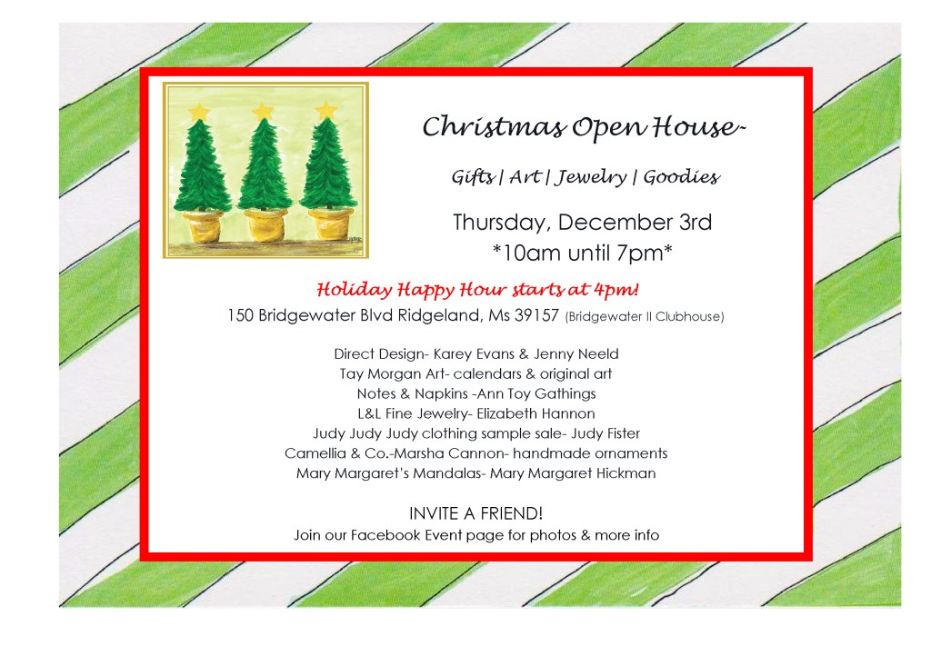 A Holiday Open House and You Are Invited
