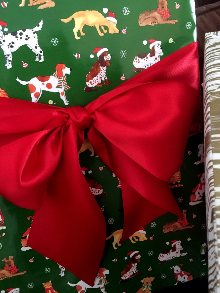 Christmas gift wrap On Pinehurst Place
