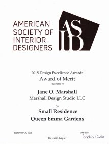 ASID Design Excellence Award 2015