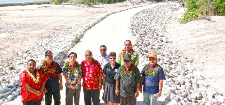 VIPs check Woja causeway
