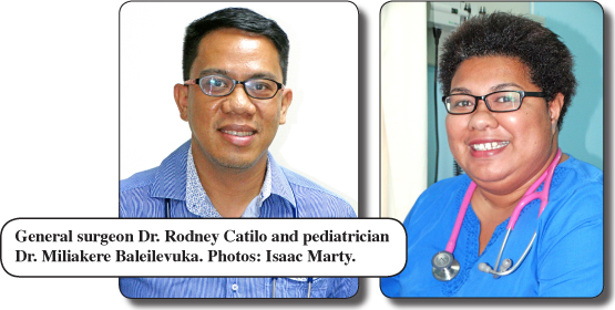 Majuro hospital's two new doctors