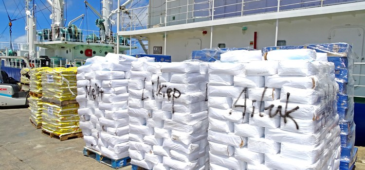 Food delivered to dry islands