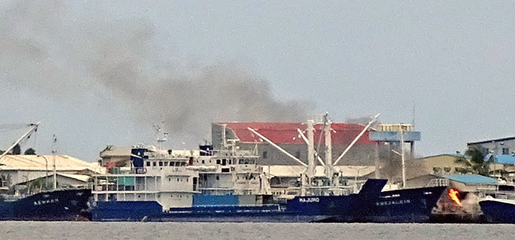 Dock accident badly burns worker