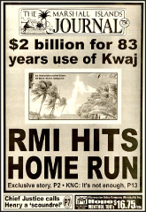 $2 billion for Kwajalein use