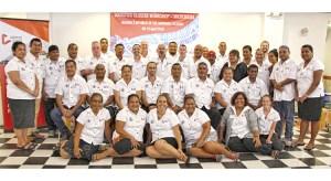 Disaster response staff from RMI, FSM, Palau, and Kiribati met in Majuro last week.